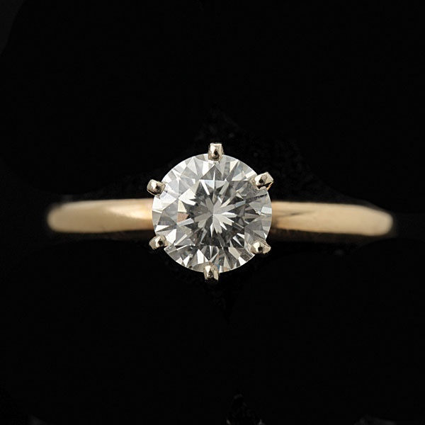 DIAMOND, 14K YELLOW GOLD RING #jewelry #michaans http://www.michaans.com/events/2012/auct_10072012.php