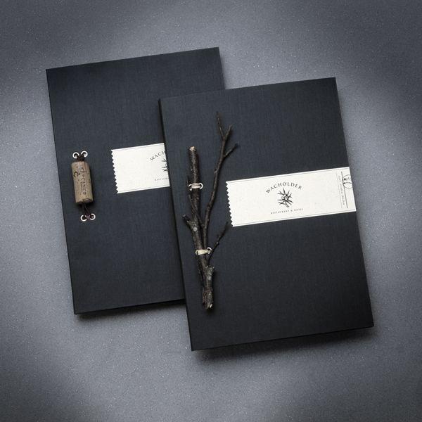 Wacholder by Markus Weissenhorn, via Behance Lovely idea, incorporating natural elements into a bespoke binding