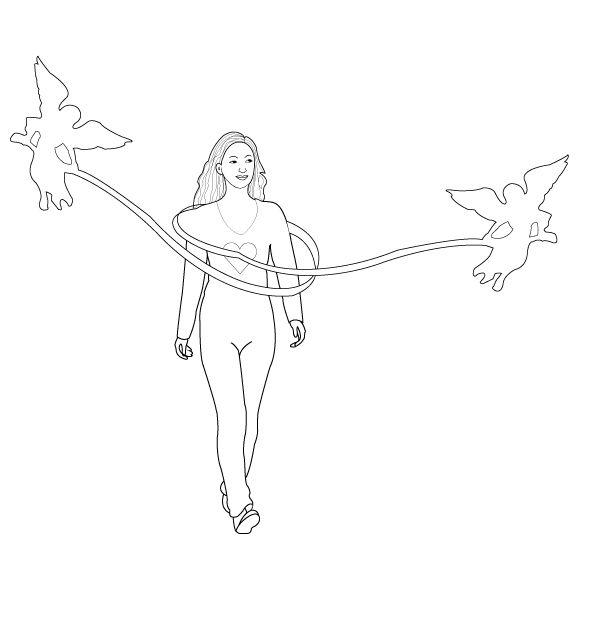 simple one line artwork in Illustrator