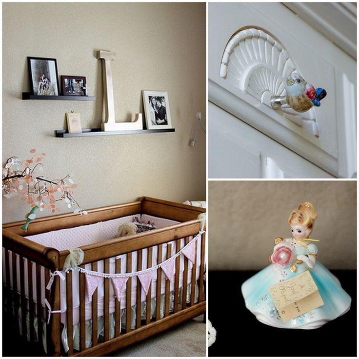 Real Rooms: Sweet & Sentimental Nursery | Project NurseryFabrics Pendants, Real Room, Girl Nurseries, Livie Cribs, Projects Nurseries, Baby Room, Nice Colors, Girls Nurseries, Baby Nurseries