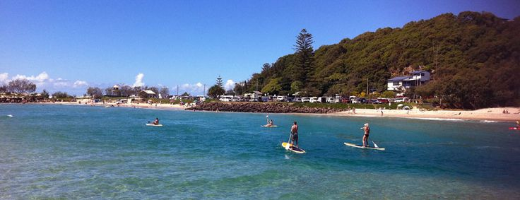 Stand Up Paddle boarding on Currumbin Creek