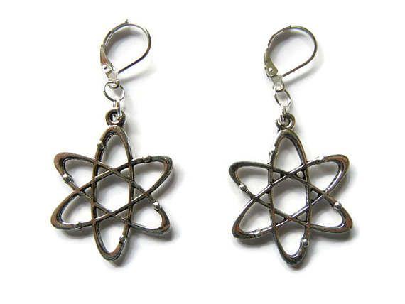 Atom Earrings Atom Jewelry Atomic Earrings Science