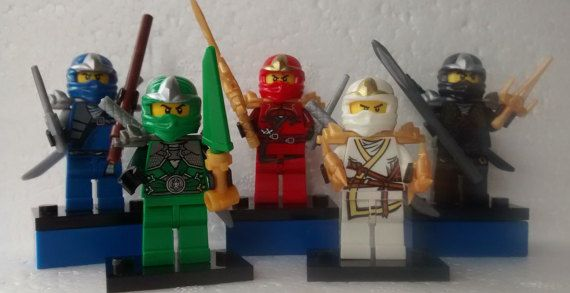 Ninjago Mini Figures JayKaiColeLloyd & Zane Fits All Lego