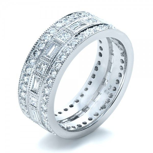 diamond wedding bands for women in platinum | Women's Wedding Rings-Custom Women's Diamond Eternity Band #DiamondWeddingRingsforWomen #diamondweddingbands #weddingbandsforwomen