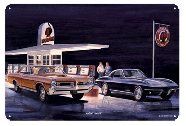 station by jack schmitt metal sign classic pontiac gto chevrolet. Cars Review. Best American Auto & Cars Review