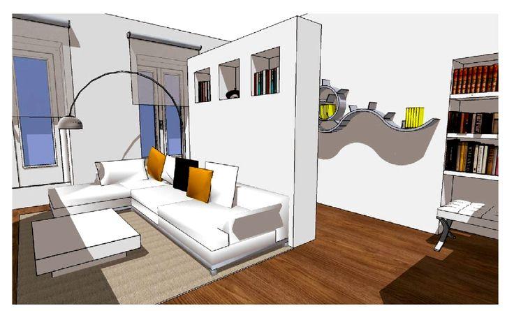Esami finali Corso di Interior Design (www.madeininterior.it): progetto di interni, Simona Palmisano