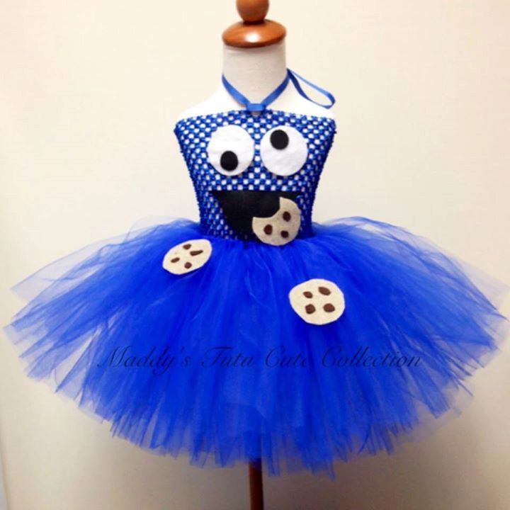 Cookie Monster Tutu Dress with headband  Sizes by MTCCollection, $40.00