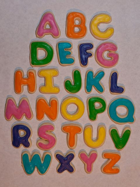 Alphabet cookies by chadsellers, via Flickr for favors or for the kids to eat