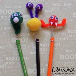 Podzimní strašidelné pastelky - tvoření pro děti