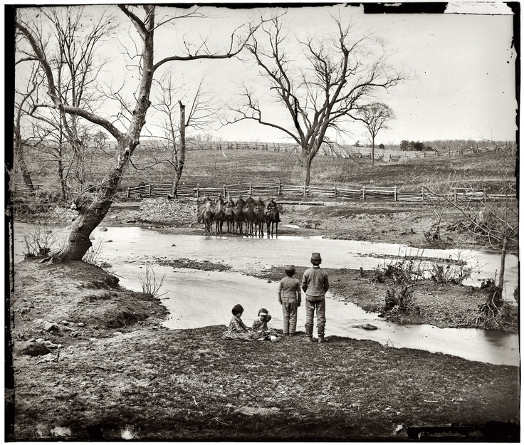 Battlefield Ford Manassas Va >> Winter of 1861-1862. Federal cavalry at Sudley Ford ...