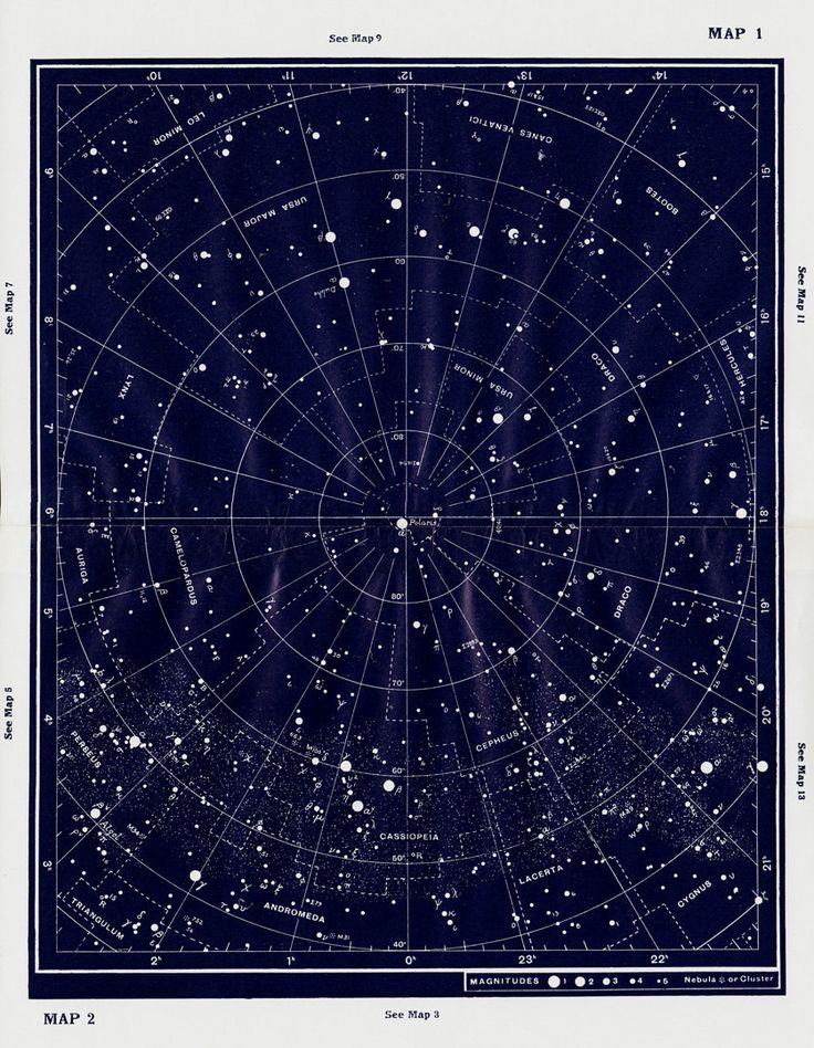 astronomy star charts constellations - 736×931