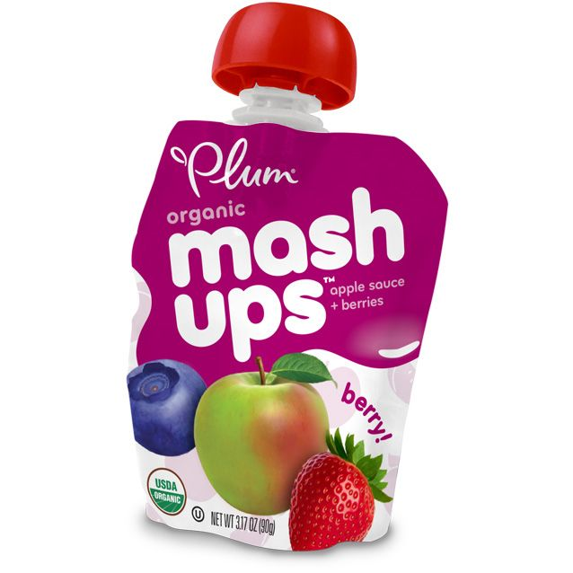 Plum Organics: Mashups! **Quick, easy, yum! I've tried 3 flavors: Berry, Tropical and, Strawberry Banana. Nice substitute to the Powerbar fruit squeeze pouches. These are 45-60cal per pouch depending on the flavor you pick.**