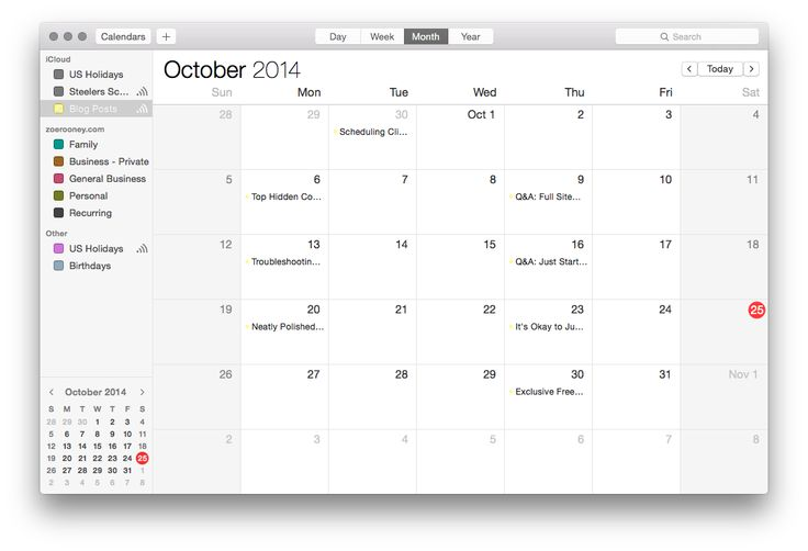 Blogging Tip: How to set up an iCal feed for your blog (organization for bloggers)