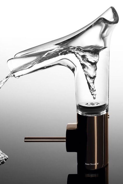 For the third time, @axor  won the Wallpaper* Design Award. In the category Best Domestic Design the transparent #glass #mixer Axor Starck V design by Philippe Starck