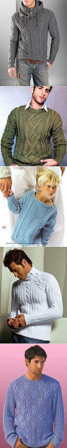 Suéter de los hombres.  Una selección de diagramas y descripciones ..