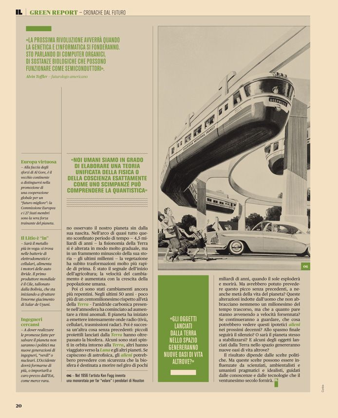 Intelligence in Lifestyle Magazine Art directed by Francesco Franchi.