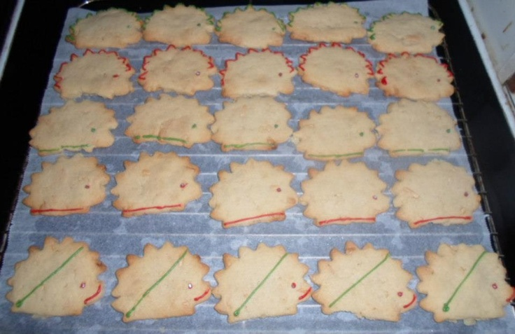 Hedge hog cookies.