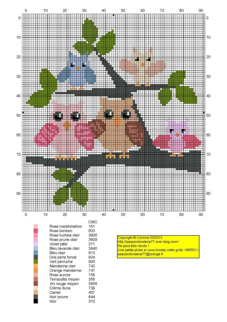 chouette - great - Point de croix - cross stitch - Blog : http://broderiemimie44.canalblog.com/