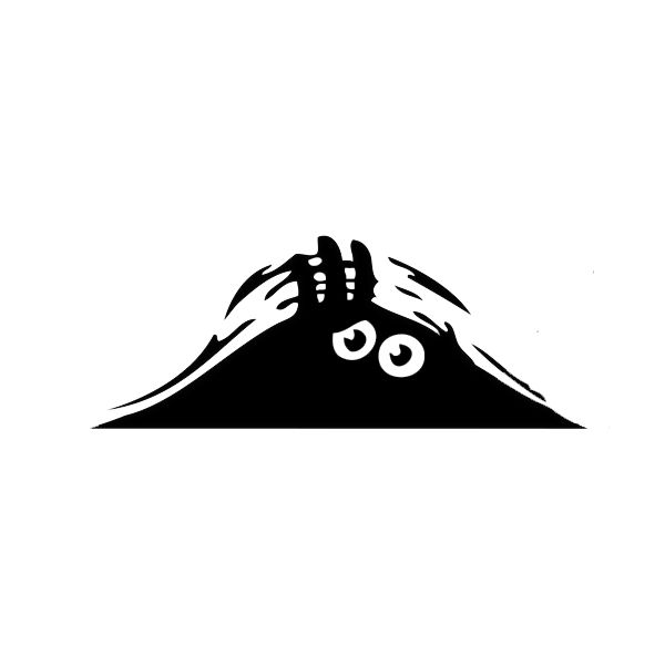 Peeking Monster For Auto Car Walls Windows Sticker Graphic