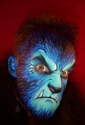 Wolfman face art by Nick Wolfe - copyright Nick Wolfe
