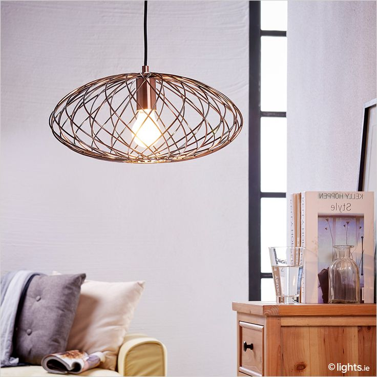 Oval Pendant Lamp Jilla Made From Metal