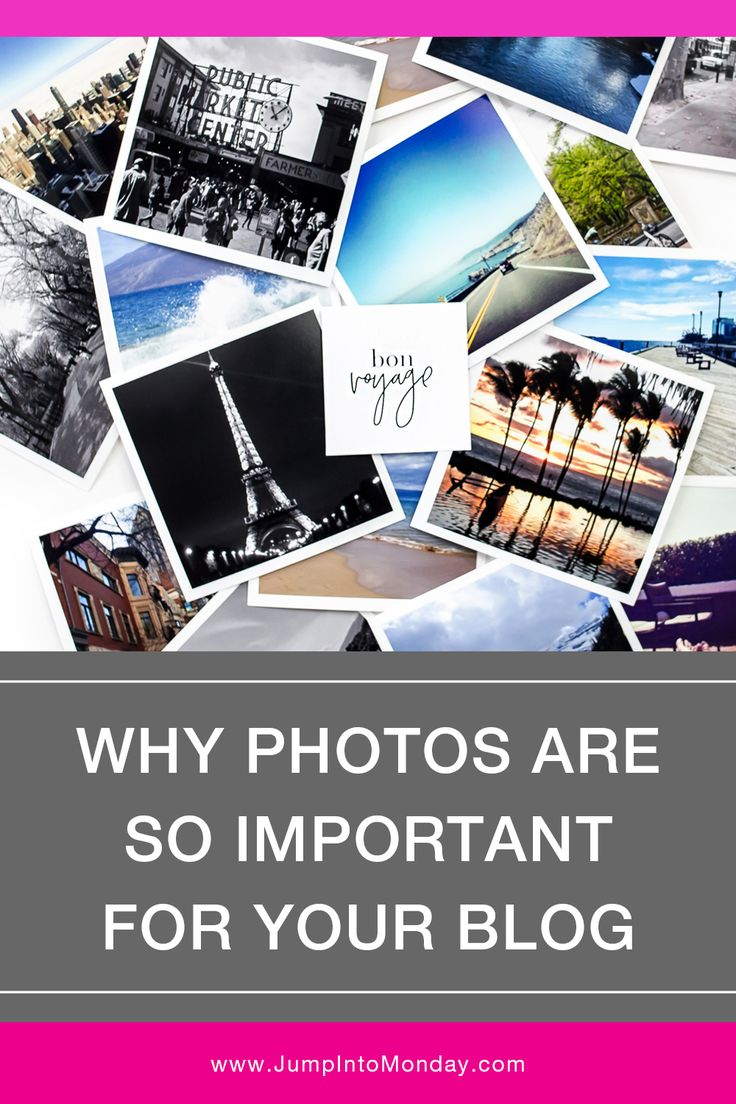 Why Photos Are So Important For Your Blog. Great post about the importance of photography on your website and how they affect your brand. Includes a nice list of stock photo sites to take a look at also. Pin now.