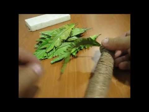 como hacer una palmera parte 2 how to make  a palm tree part 2 - YouTube