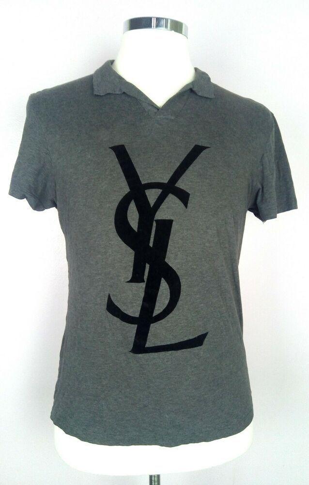 6dd1382c446 100% Authentic YVES SAINT LAURENT YSL Rive Gauche T-shirt Size L Slim Fit  MINT #YvesSaintLaurent #FashionTshirt