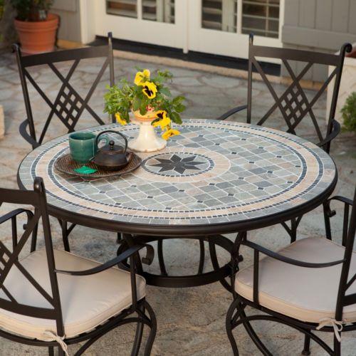 best outdoor wrought iron tablechairs  on Pinterest