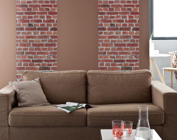 1000 id es sur le th me murs de briques rouges sur for Mur brique salon