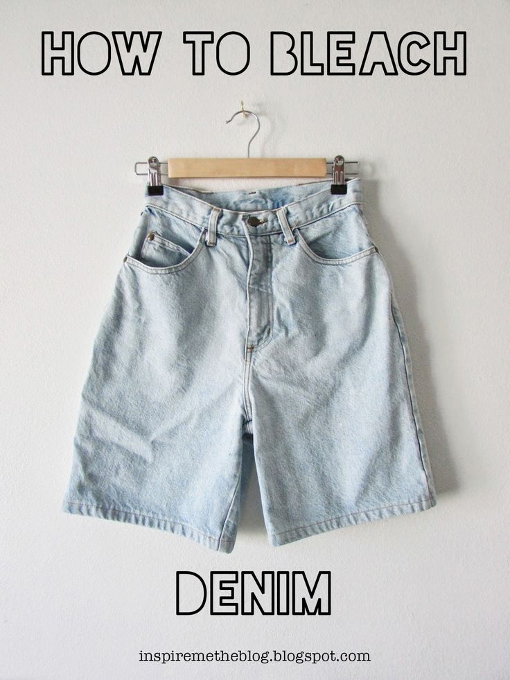 Inspire Me Blog: how to bleach denim.