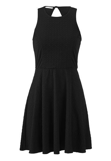 black dress with textured fabric (original price, $39) available at #Maurices