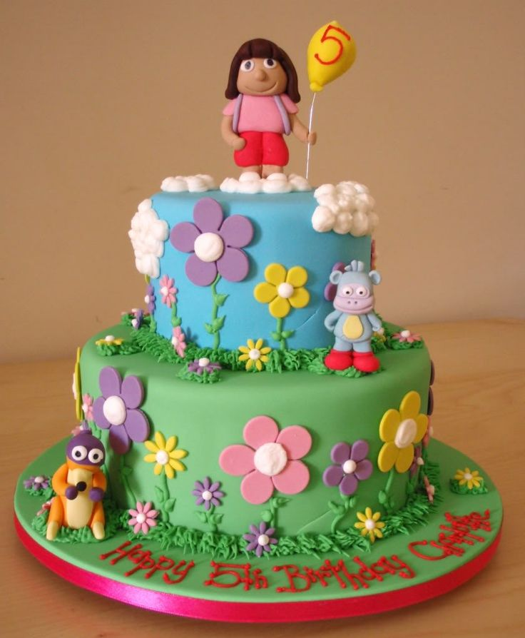 25 Best Images About Chloe 4th Bday Dora Cake On Pinterest