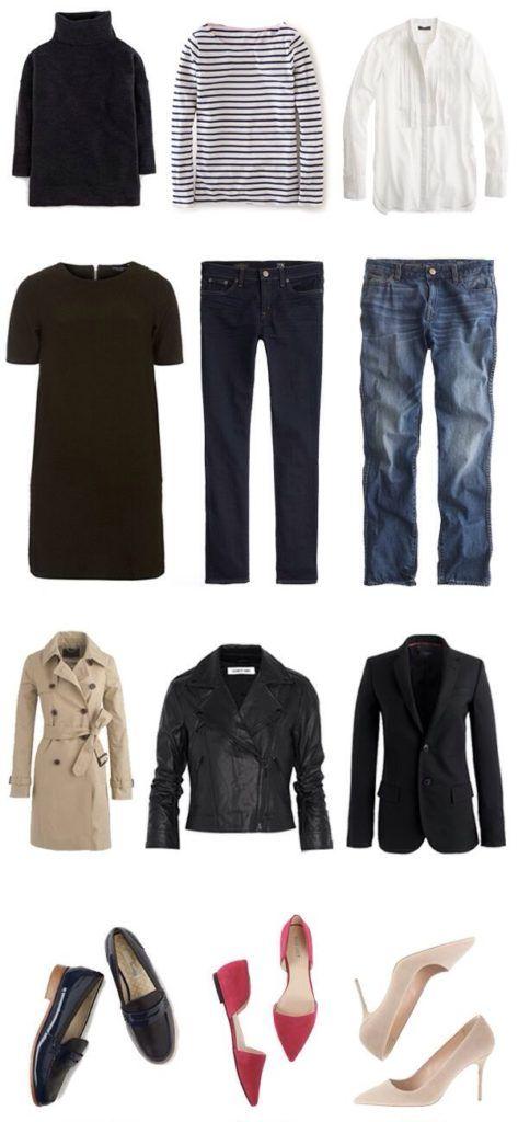 капсула одежды французский стиль