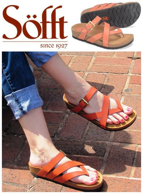 Affordable and Supportive Cork Footbed Sandals by Sofft