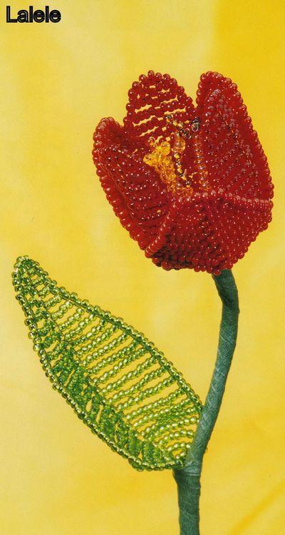 Flori decorative din margele I - Lalele