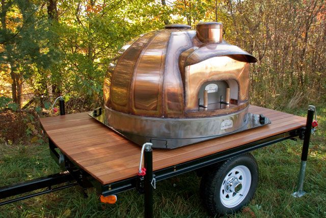 bread oven mobile | model 83 mobile oven side view of a mobile 83 wood fired oven