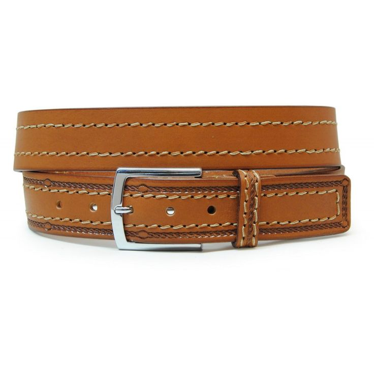 Cintura da Jeans sportiva in pelle vegetale, Cuoio