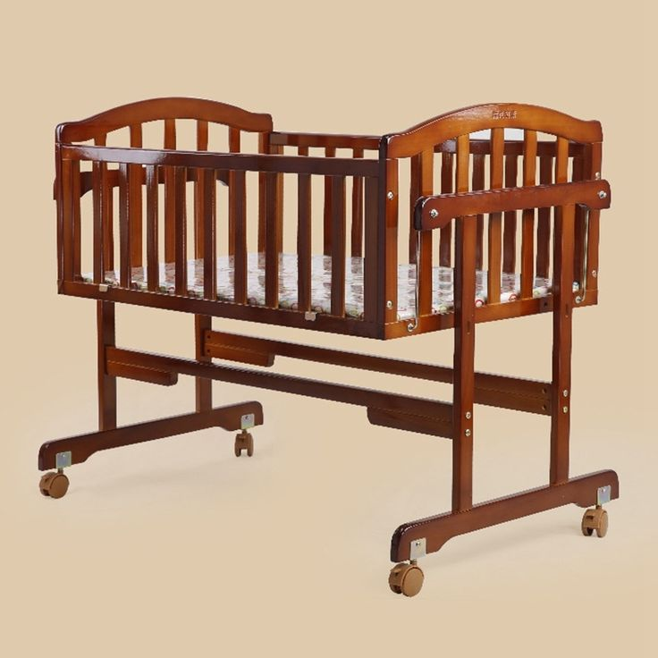 125.33$  Watch here - http://alip0o.worldwells.pw/go.php?t=32762112953 - Good Quality Baby Crib Safe Solid Wood Baby Bed Infant Balance Swing Bed Newborn Baby Cot Bed Cradle