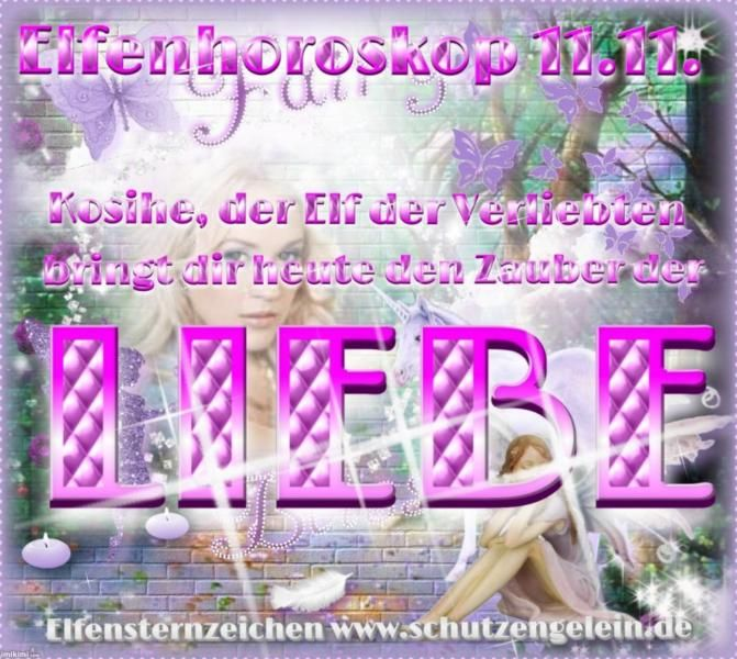 Hier ist dein kostenloses Tageshoroskop der ElfenBuchtip: Feen Herz von Petra Maria Scheid (Amazon)Shop Tip: www.schutzengelein.de (Naturkosmetik)