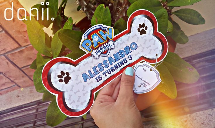 Creative invitation birthday card for paw patrol theme. #pawpatrolinvitation #pawpatrolcard #kidspartyinvitation  #puppythemecard #creativekidspartycard