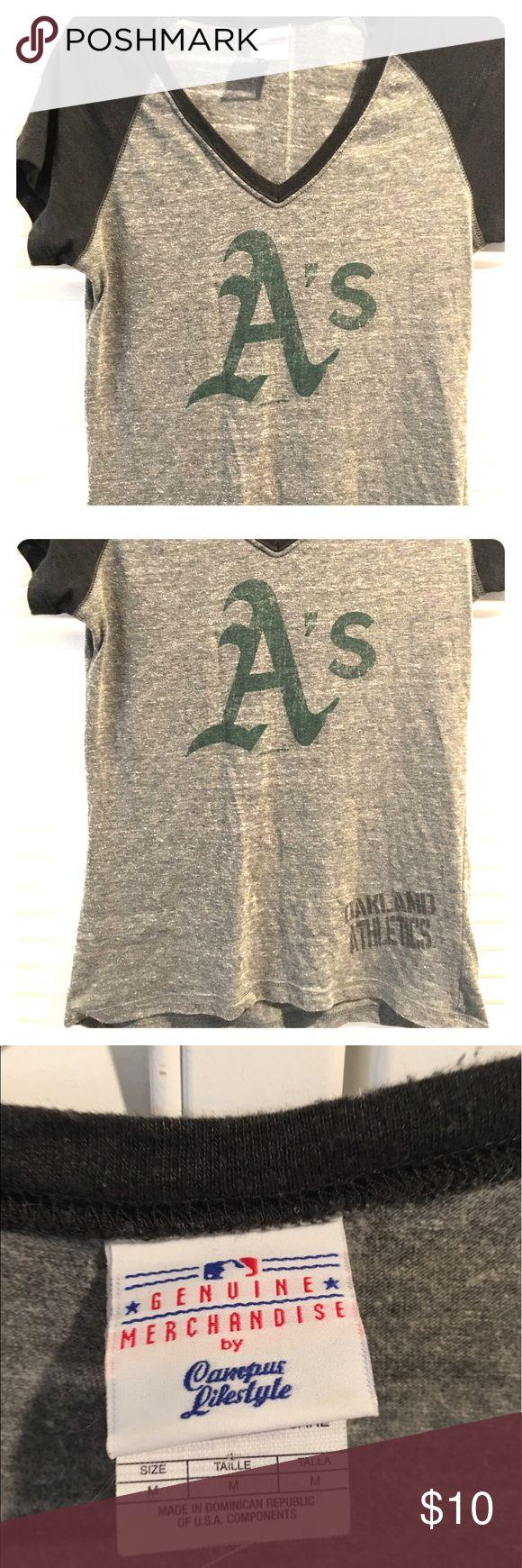 Women's Oakland Athletics t shirt Women's v neck Oakland Athletics t shirt. Tops Tees - Short Sleeve