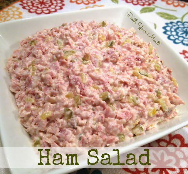 Ham Salad {Oh LAWW!  Give me some townhouse crackers and a bowl of this and you won't hear a word out of me for hours! }