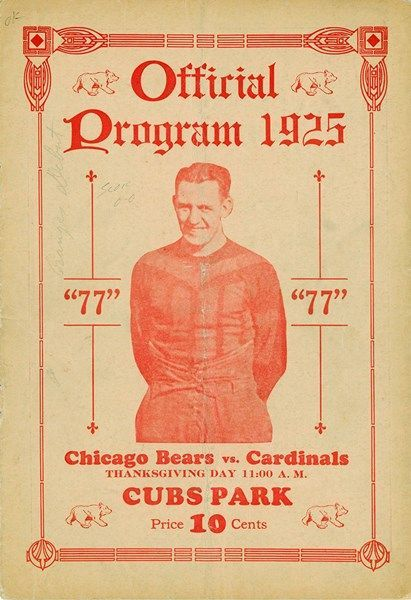 Chicago Bears vs. Cardinals, Thanksgiving Day 1925Source: Pro... | Art Deco Architecture | Bloglovin'