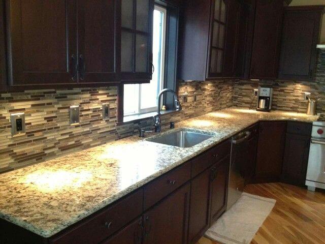 1000 Images About Kitchen Backsplash On Pinterest Giallo Ornamental Granite Stone Veneer And