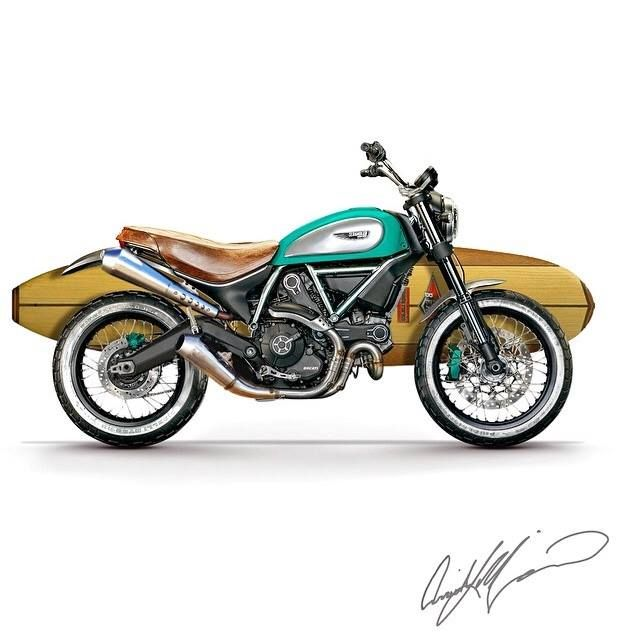 Attractive Ducati Surf Scrambler. Customisation By Arrick Maurice