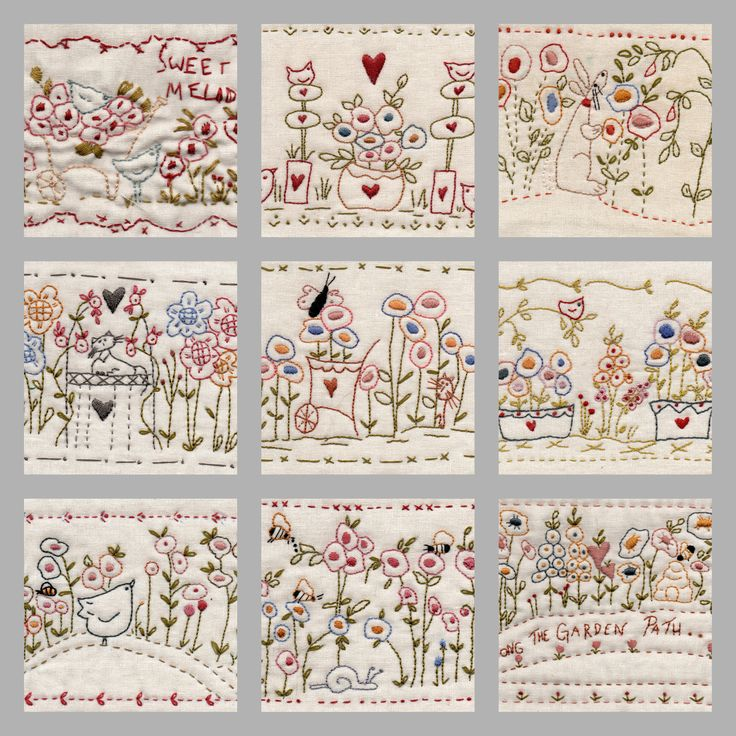 Along the Garden Path stitcheries Designs by Barb Smith www.theodoracleave.com