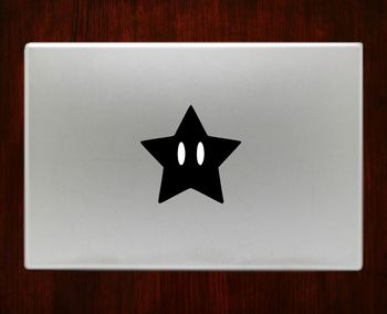 Super mario star Macbook Pro / Air 13 Decal Stickers