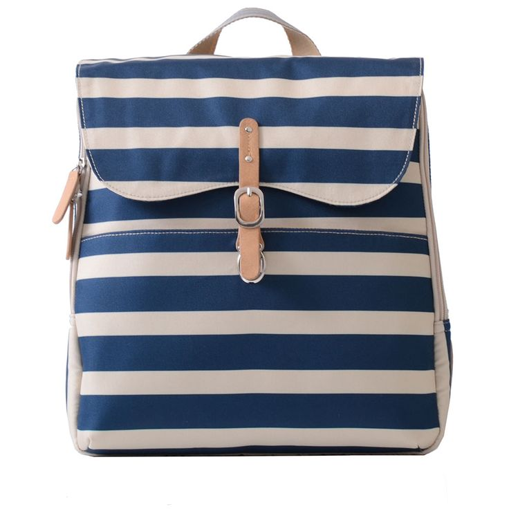 The Hastings Navy Stripe Changing Bag by PacaPod is our ideal companion for adventures to the seaside!