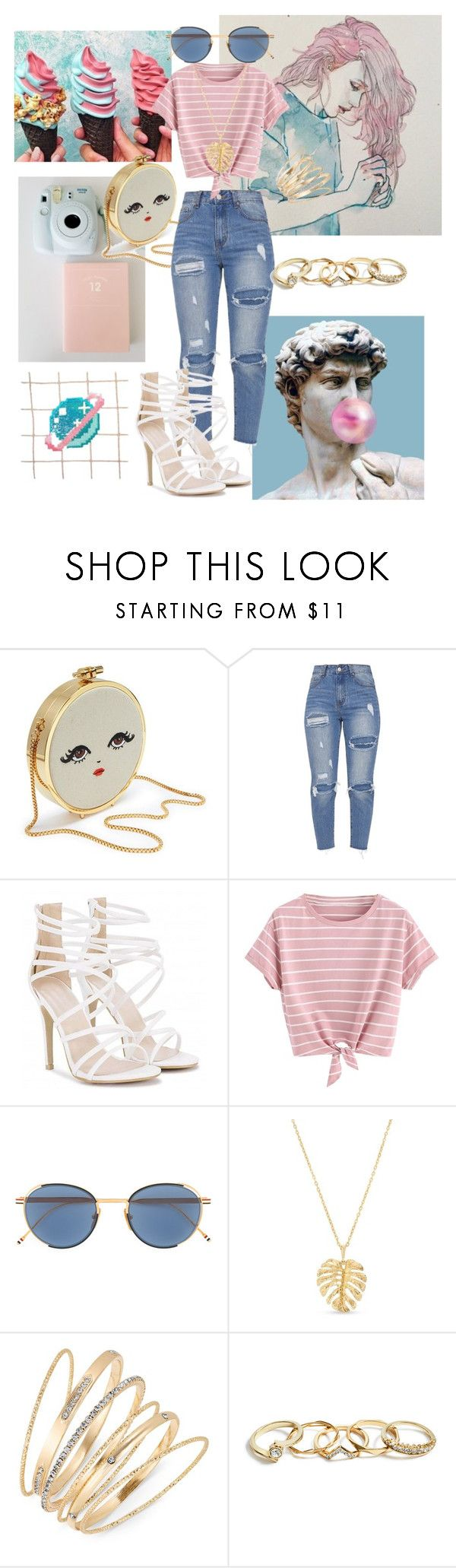 """""""Pink & Blue Aesthetic"""" by nannie-howelter ❤ liked on Polyvore featuring Crown & Ivy, Thalia Sodi and GUESS"""
